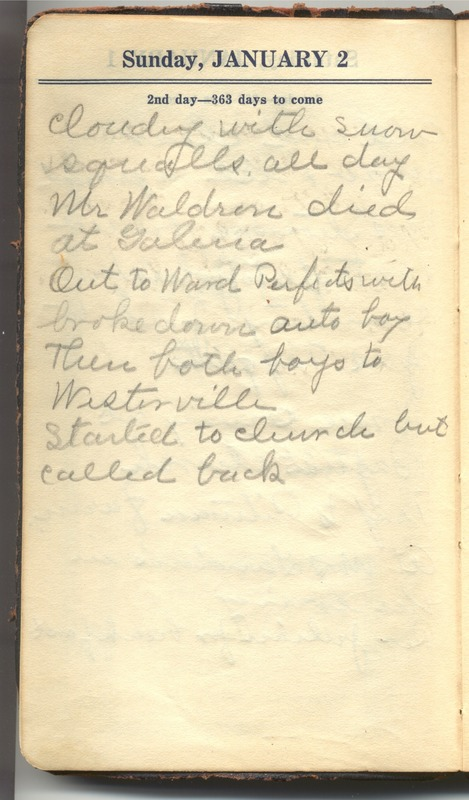 Roberta Hopkins' Diary 1927 (p. 8)