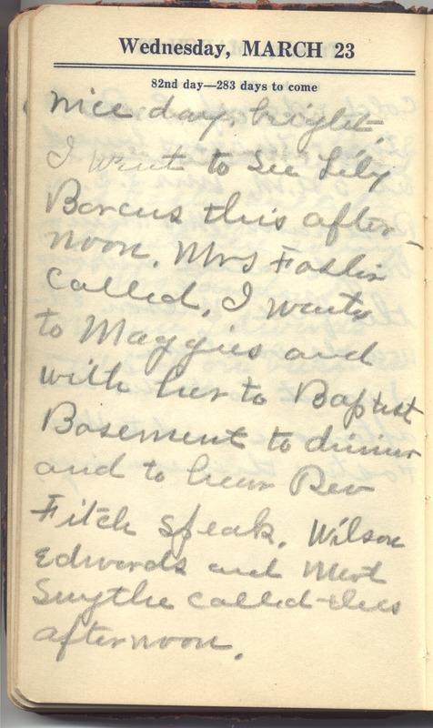 Roberta Hopkins' Diary 1927 (p. 88)