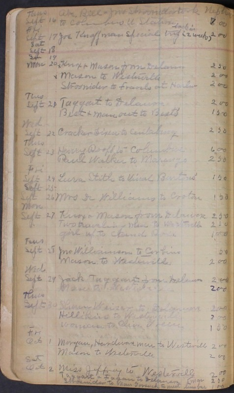 Hopkins House Day Book 1920-1925 (p.24)