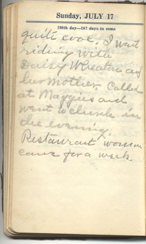 Roberta Hopkins' Diary 1927 (p. 204)