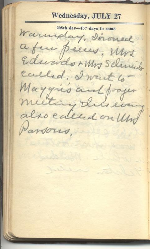 Roberta Hopkins' Diary 1927 (p. 214)
