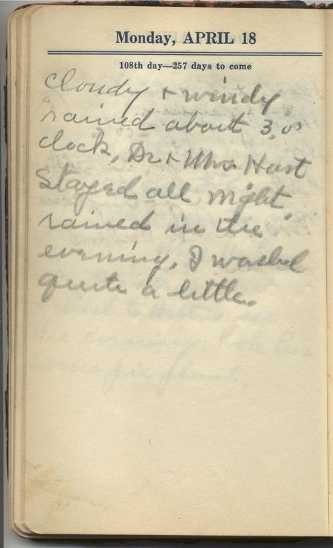Roberta Hopkins' Diary 1927 (p. 114)