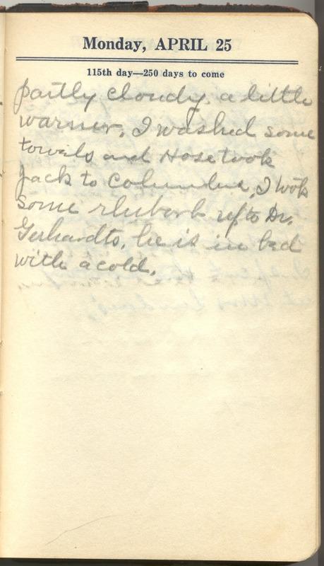Roberta Hopkins' Diary 1927 (p. 121)