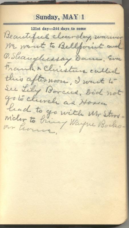 Roberta Hopkins' Diary 1927 (p. 127)