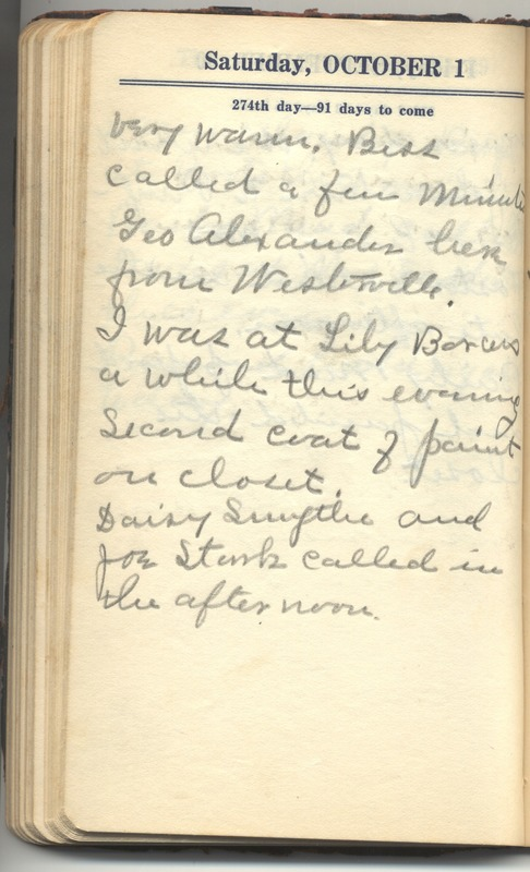 Roberta Hopkins' Diary 1927 (p. 280)