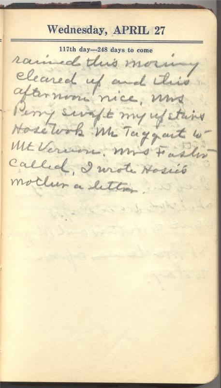 Roberta Hopkins' Diary 1927 (p. 123)