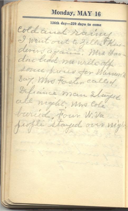 Roberta Hopkins' Diary 1927 (p. 142)