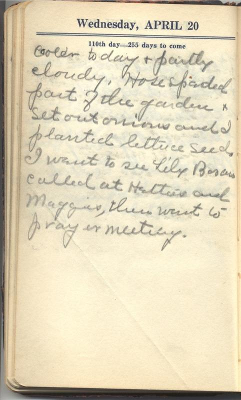 Roberta Hopkins' Diary 1927 (p. 116)