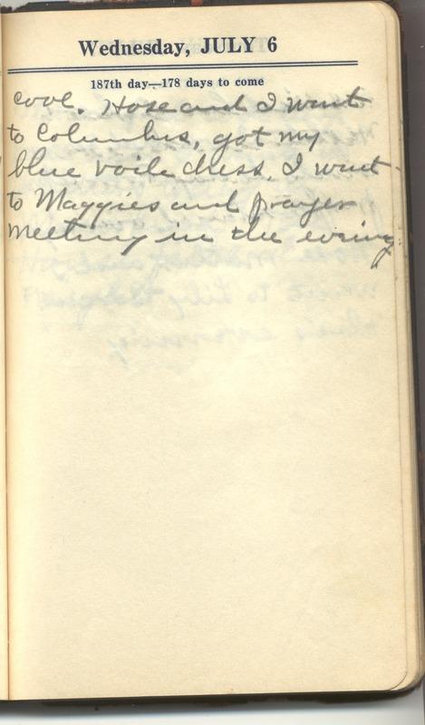 Roberta Hopkins' Diary 1927 (p. 193)