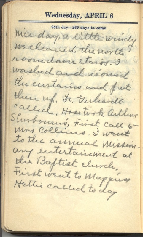 Roberta Hopkins' Diary 1927 (p. 102)