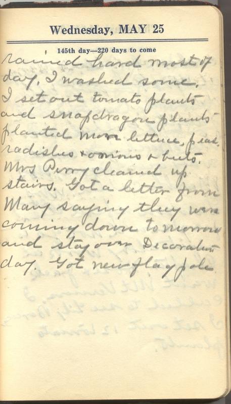 Roberta Hopkins' Diary 1927 (p. 151)