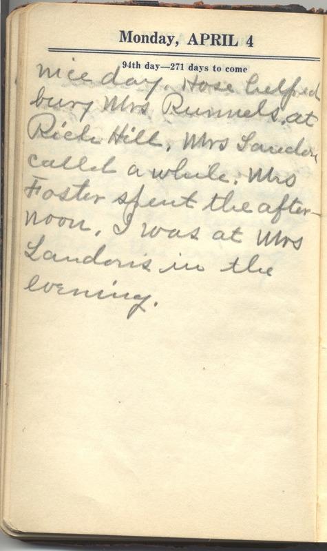 Roberta Hopkins' Diary 1927 (p. 100)