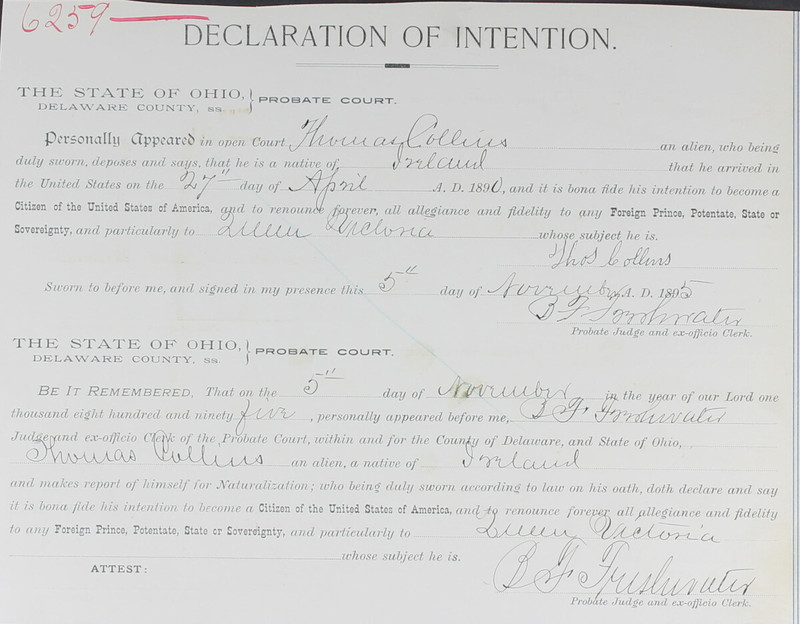Naturalization Records Delaware County OH (p. 330)