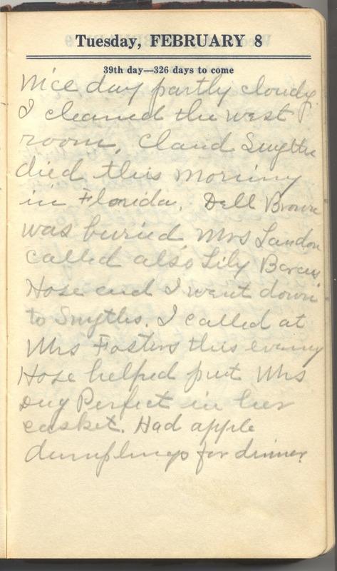 Roberta Hopkins' Diary 1927 (p. 45)