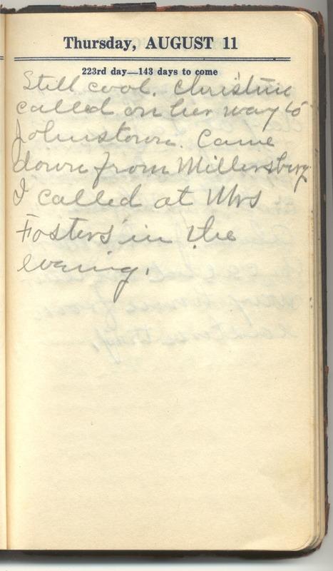 Roberta Hopkins' Diary 1927 (p. 229)
