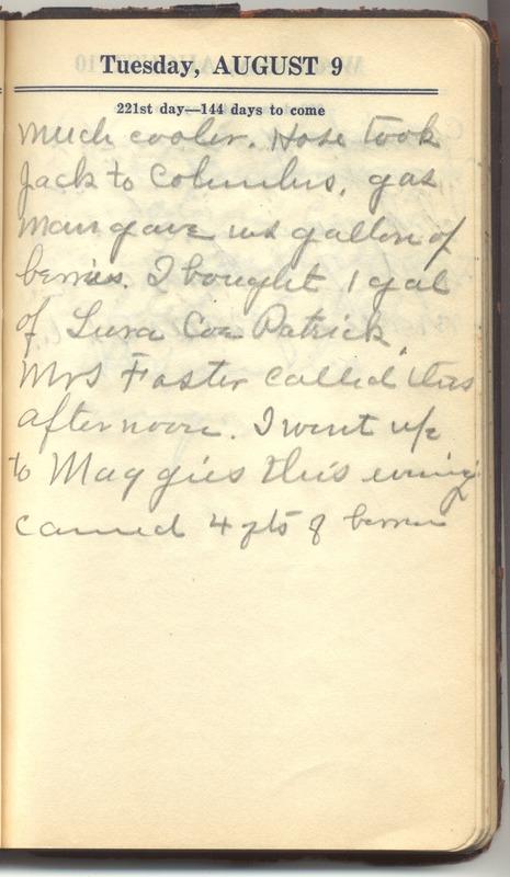 Roberta Hopkins' Diary 1927 (p. 227)