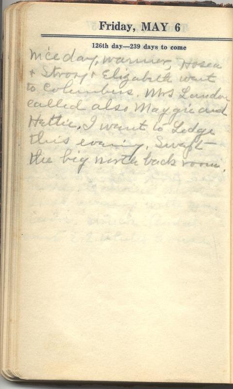 Roberta Hopkins' Diary 1927 (p. 132)