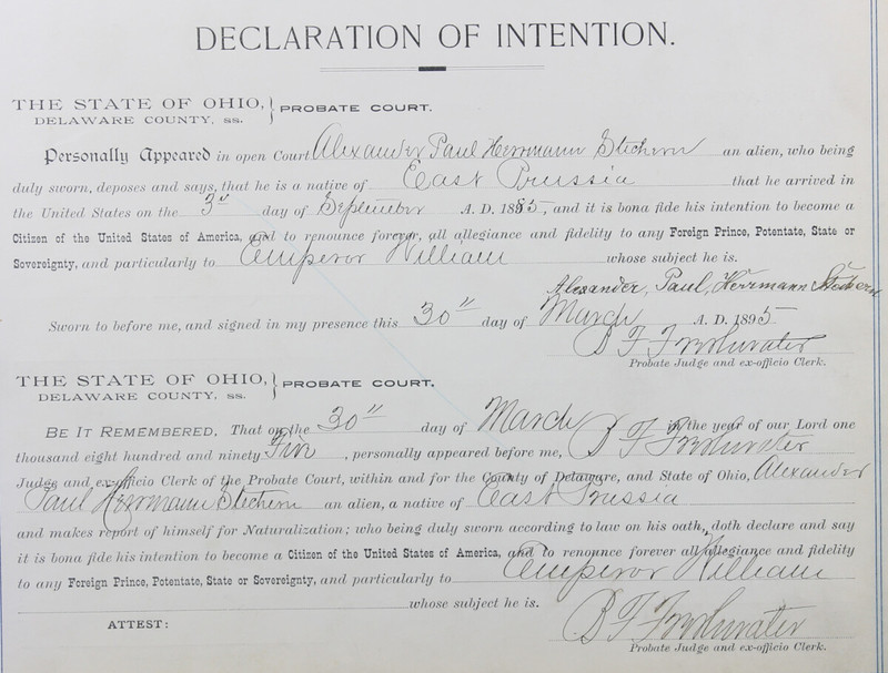 Naturalization Records Delaware County OH (p. 261)