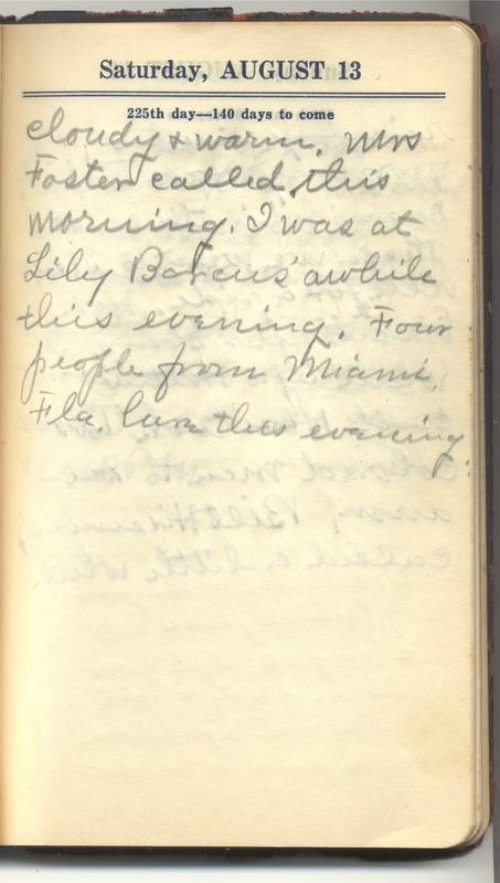 Roberta Hopkins' Diary 1927 (p. 231)