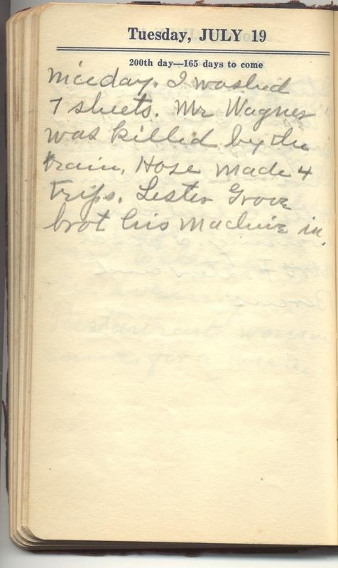 Roberta Hopkins' Diary 1927 (p. 206)
