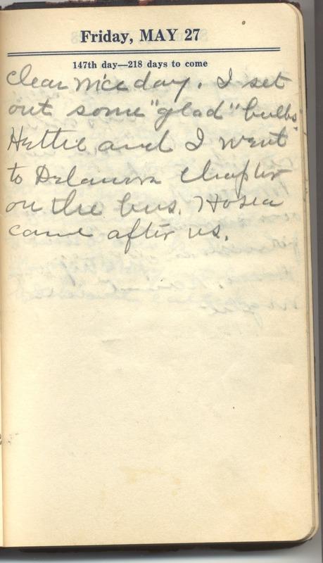 Roberta Hopkins' Diary 1927 (p. 153)
