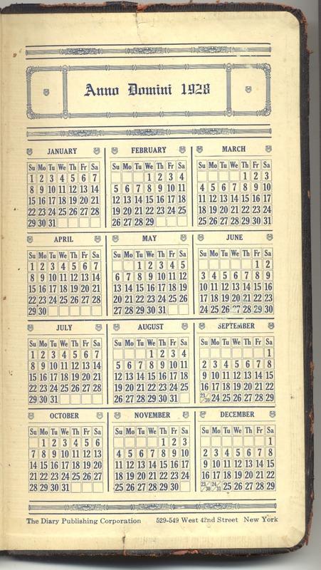 Roberta Hopkins' Diary 1927 (p. 391)
