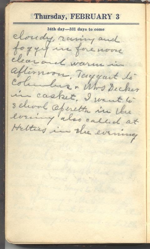 Roberta Hopkins' Diary 1927 (p. 40)