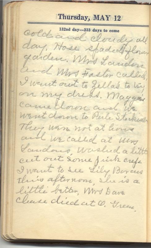 Roberta Hopkins' Diary 1927 (p. 138)