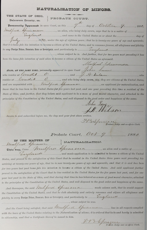 Naturalization Records Delaware County OH (p. 272)
