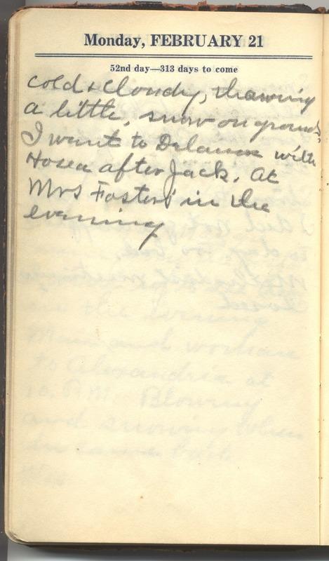 Roberta Hopkins' Diary 1927 (p. 58)