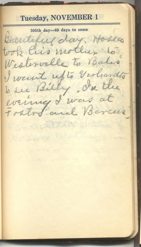 Roberta Hopkins' Diary 1927 (p. 311)