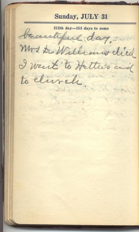 Roberta Hopkins' Diary 1927 (p. 218)