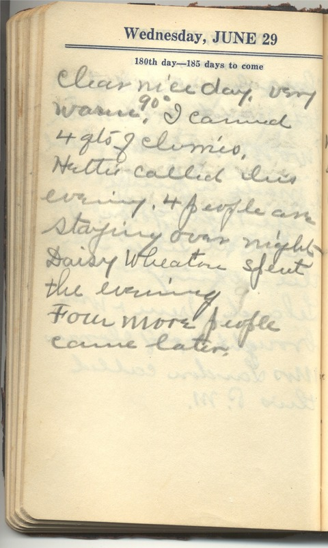 Roberta Hopkins' Diary 1927 (p. 186)