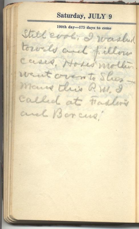Roberta Hopkins' Diary 1927 (p. 196)