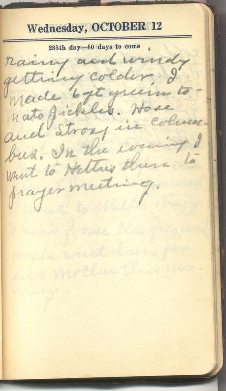 Roberta Hopkins' Diary 1927 (p. 291)
