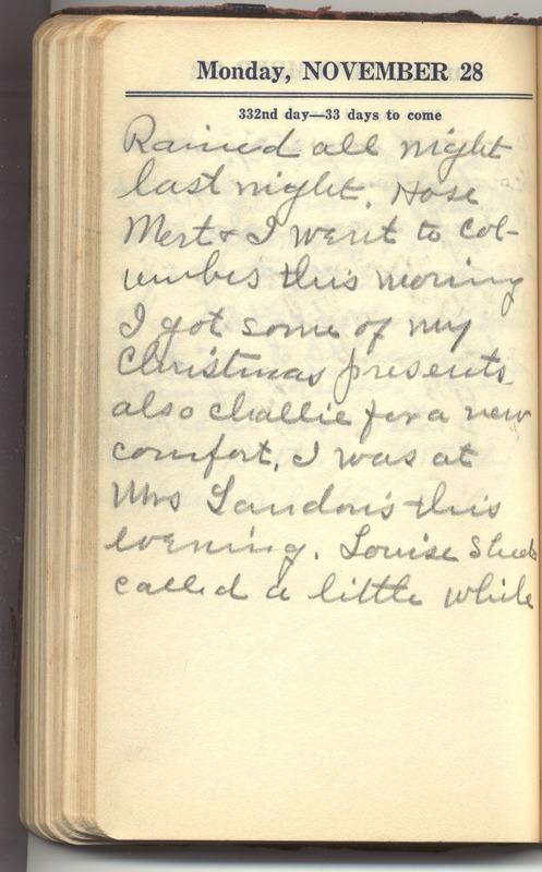 Roberta Hopkins' Diary 1927 (p. 338)