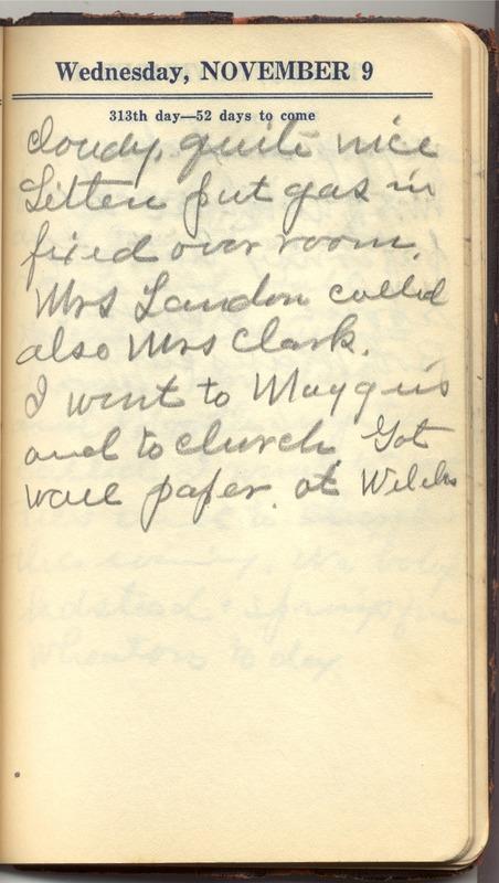 Roberta Hopkins' Diary 1927 (p. 319)
