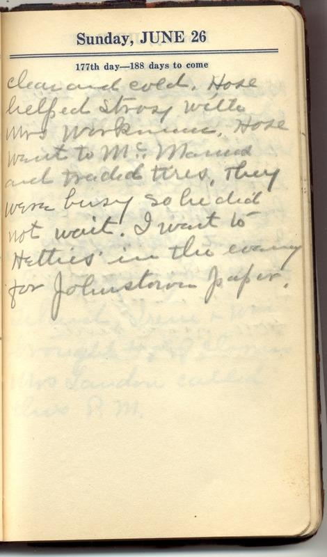 Roberta Hopkins' Diary 1927 (p. 183)