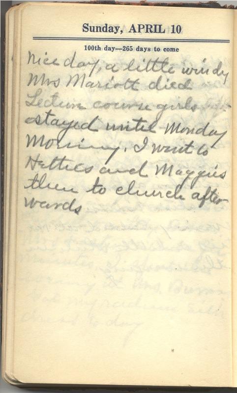 Roberta Hopkins' Diary 1927 (p. 106)