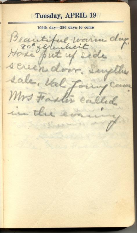 Roberta Hopkins' Diary 1927 (p. 115)