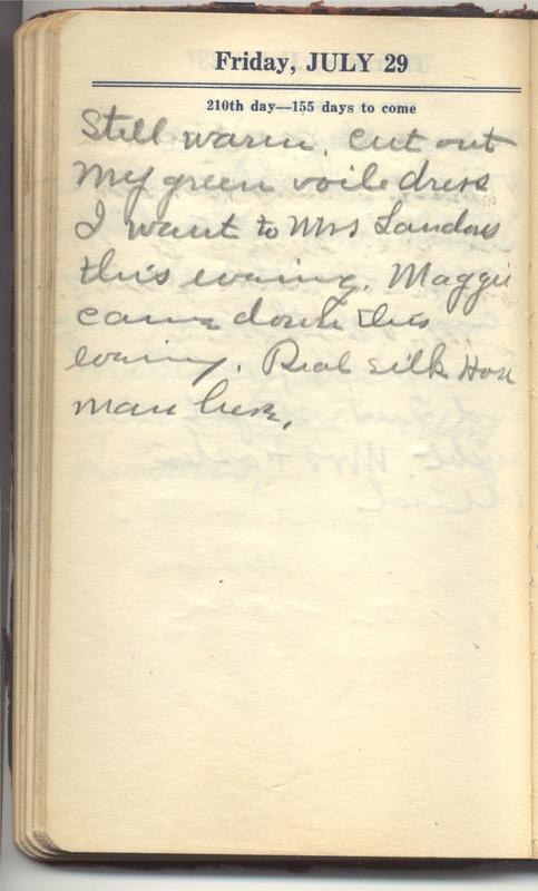 Roberta Hopkins' Diary 1927 (p. 216)