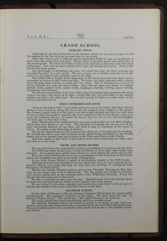 The Owl, Vol. II, 1922 (p.45)