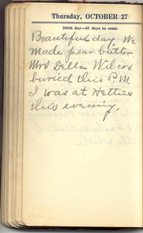 Roberta Hopkins' Diary 1927 (p. 306)
