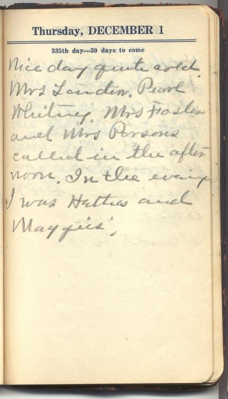 Roberta Hopkins' Diary 1927 (p. 341)