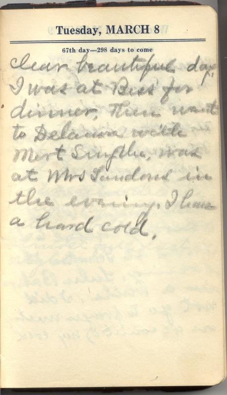 Roberta Hopkins' Diary 1927 (p. 73)