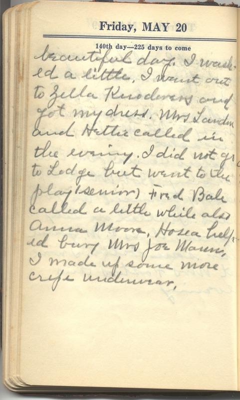 Roberta Hopkins' Diary 1927 (p. 146)