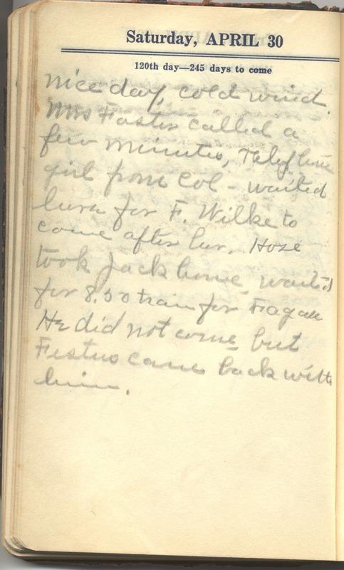 Roberta Hopkins' Diary 1927 (p. 126)