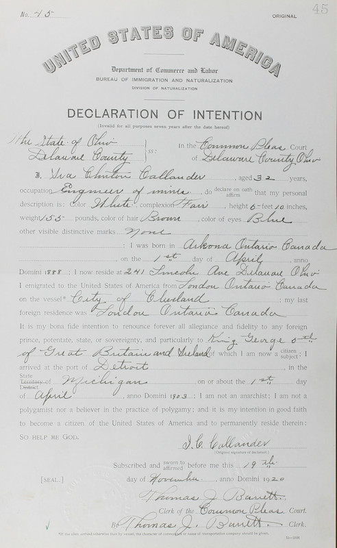 Naturalization Records Delaware County OH (p. 301)
