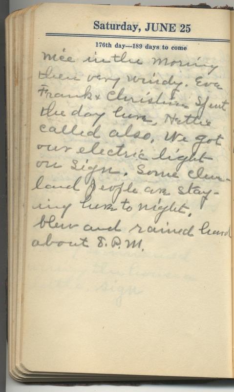 Roberta Hopkins' Diary 1927 (p. 182)