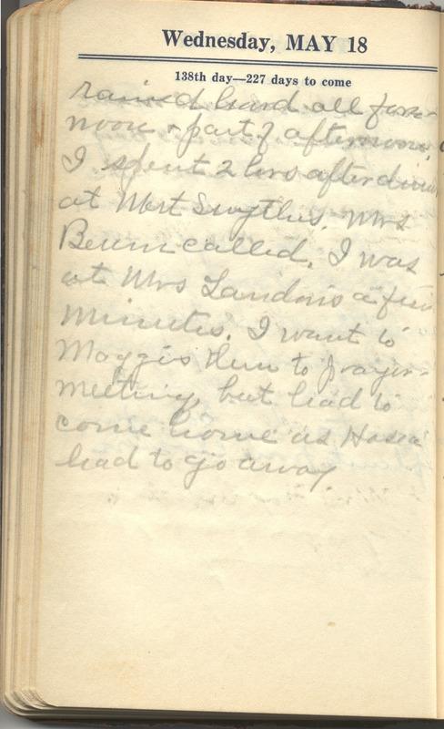 Roberta Hopkins' Diary 1927 (p. 144)